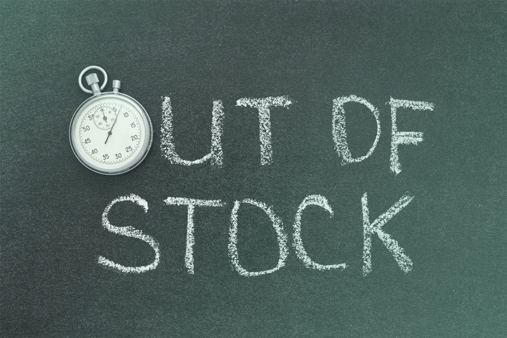 Running out of stock is one of the leading reasons for loss of revenue.